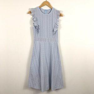 Dresses & Skirts - Fit And Flare Eyelet Sleeveless Dress